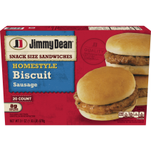Jimmy Dean® Homestyle Sausage Biscuit Snack Size Sandwiches 20 ct Box