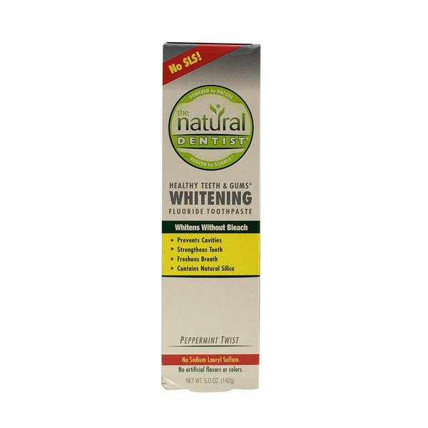 The Natural Dentist Healthy Teeth & Gums Whitening Toothpaste Peppermint Twist