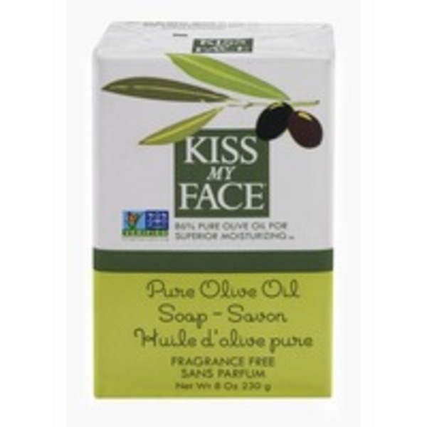 Kiss My Face Soap Bar Pure Olive Oil Fragrance Free