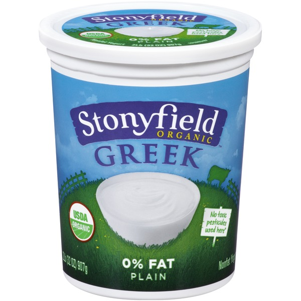 Stonyfield Organic Greek 0% Fat Plain Organic Yogurt