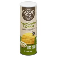 The Good Crisp Potato Crisps, Sour Cream & Onion Flavored