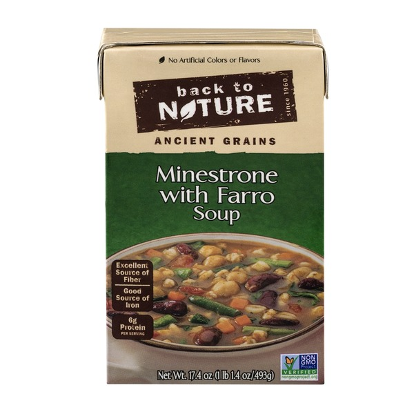 Back to Nature Minestrone with Farro Soup