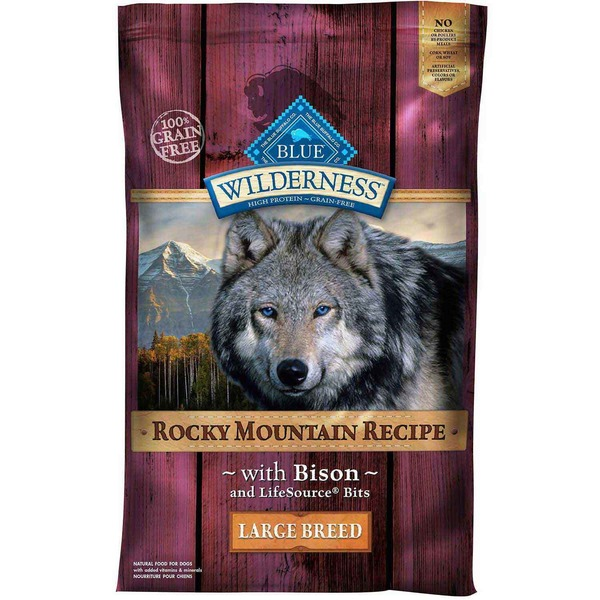 Blue Buffalo Food for Dogs, Natural, Large Breed, Rocky Mountain Recipe