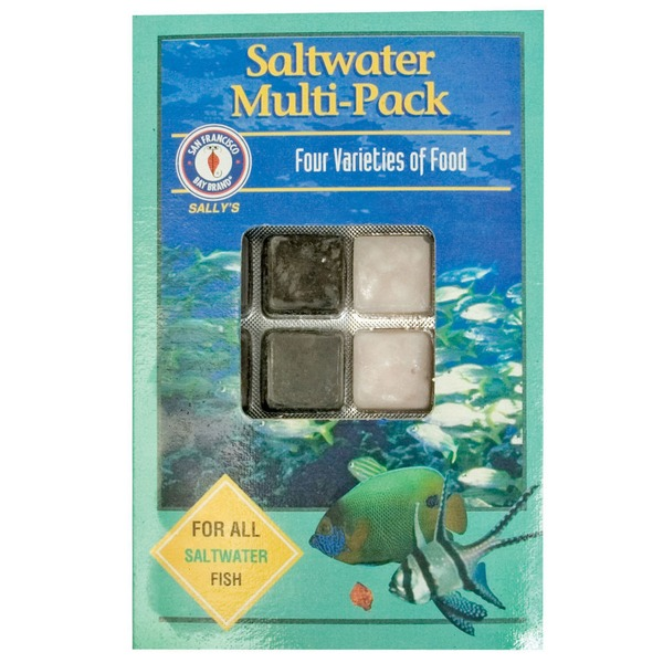 San Francisco Bay Coffee Saltwater Multi-pack Four Varieties of Food for All Saltwater Fish