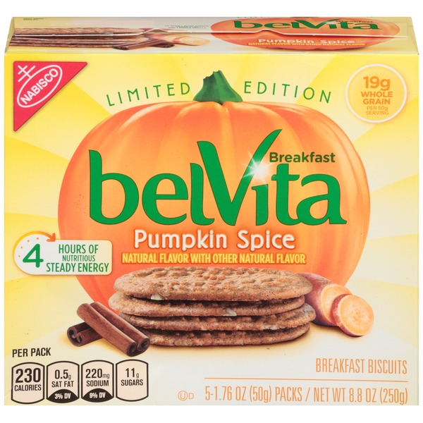 Nabisco Belvita Pumpkin Spice Limited Edition Breakfast Biscuits