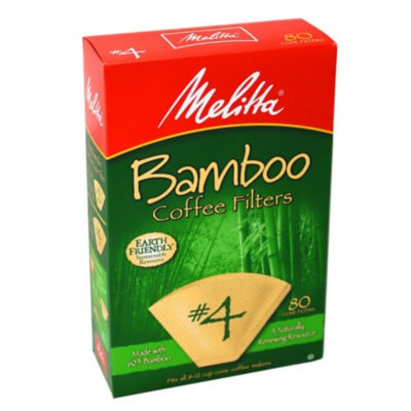 Melitta Bamboo Paper #4 Size Cone Coffee Filters