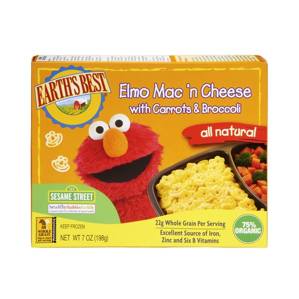 Earth's Best Elmo Mac 'n Cheese With Carrots & Broccoli