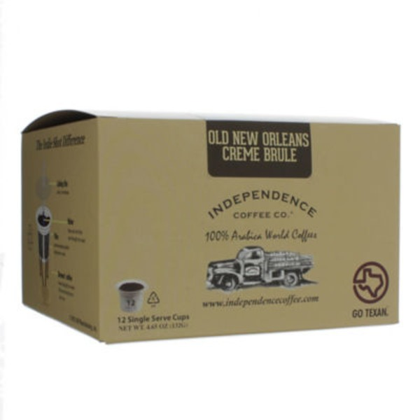 Independence Coffee Co Old New Orleans Creme Brule For Single Serve