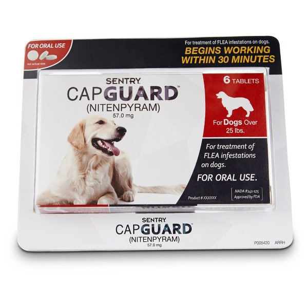 Sentry Pro Capguard Flea Tablets For Dogs 25 Lbs.& Up