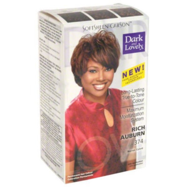 Dark and Lovely Fade Resist Rich Conditioning Color 374 Rich Auburn Hair Color