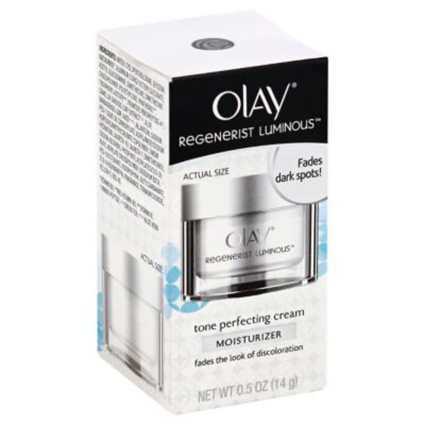 Olay Luminous Olay Regenerist Luminous Tone Perfecting Cream, Trial Size Face Moisturizer 0.5 oz Female Skin Care