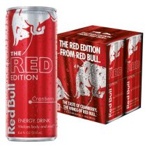 Red Bull The Red Edition Energy Drink, Cranberry, 8.4 Fl Oz, 4 Count