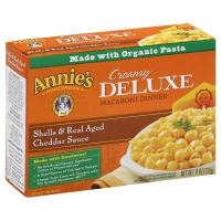 Annies Homegrown Totally Natural Creamy Deluxe Shells & Real Aged Cheddar Sauce