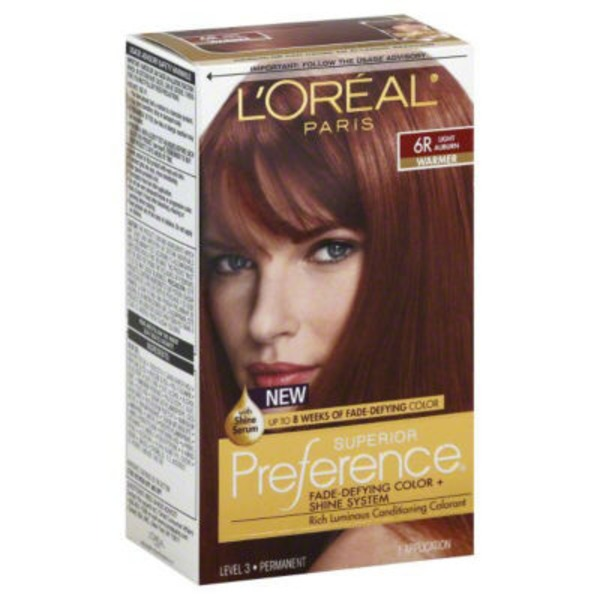 Superior Preference Warmer 6R Light Auburn Hair Color