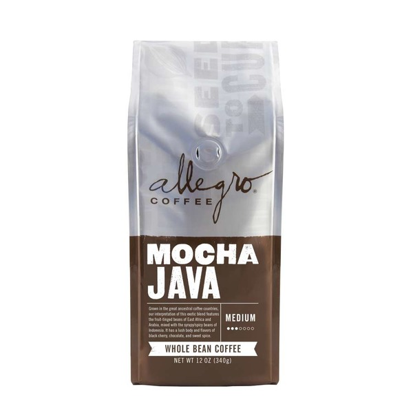 Allegro Coffee Mocha Java Medium Roast Whole Bean Coffee