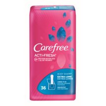 Carefree Acti-Fresh Body Shape Extra Long Unscented Liners to Go, 54 count
