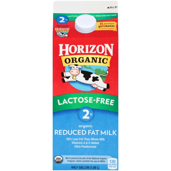 Horizon Organic Lactose Free 2% Reduced Fat Organic Milk