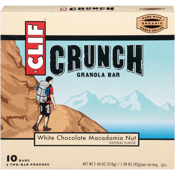 Clif Crunch ™ White Chocolate Macadamia Nut Granola Bars