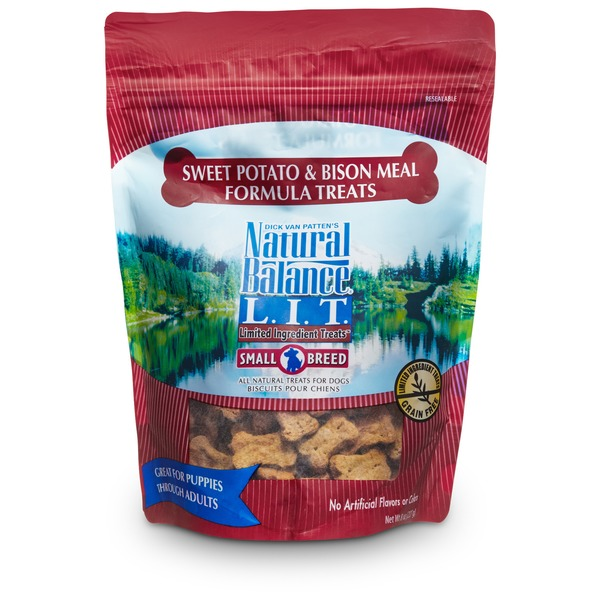 Natural Balance L.I.T. Limited Ingredient Treats Sweet Potato & Bison Formula Small Breed Dog Treat