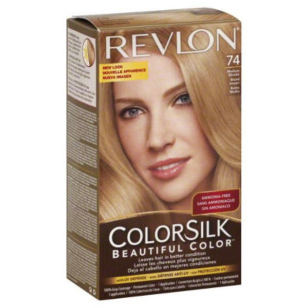 Revlon Colorsilk 74 Medium Blonde Hair Color