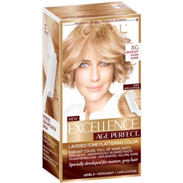 Excellence Age Perfect 8G Medium Soft Golden Blonde Layered-Tone Flattering Color