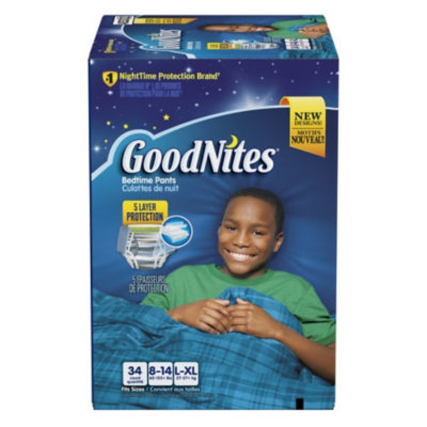 GoodNites Boy's Large/Extra Large Super Pack Bedtime Underwear