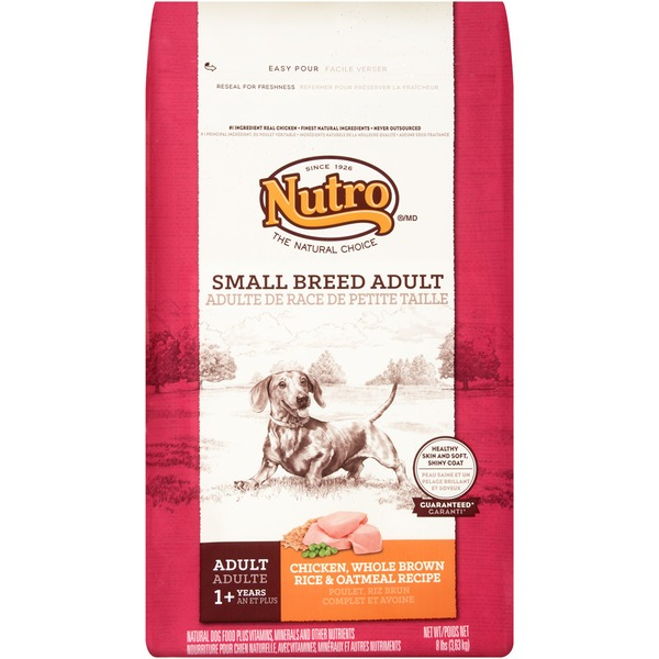 Nutro Natural Choice Chicken Whole Brown Rice & Oatmeal Small Breed Adult Dog Food 8 Lbs.