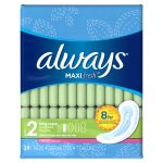 Always Maxi Fresh Size 2 Long Super Pads wing Wings, Scented, 39 Count