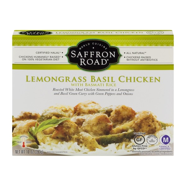 Saffron Road Lemongrass Basil Chicken With Jasmine Rice