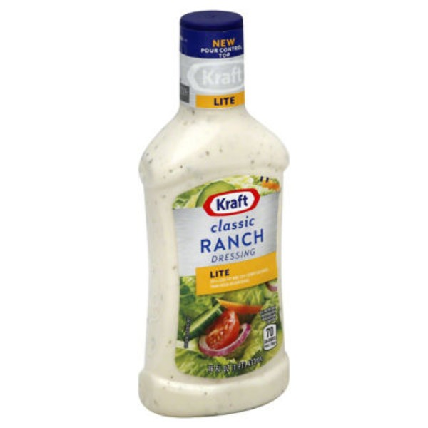 Kraft Salad Dressing Lite Classic Ranch Dressing