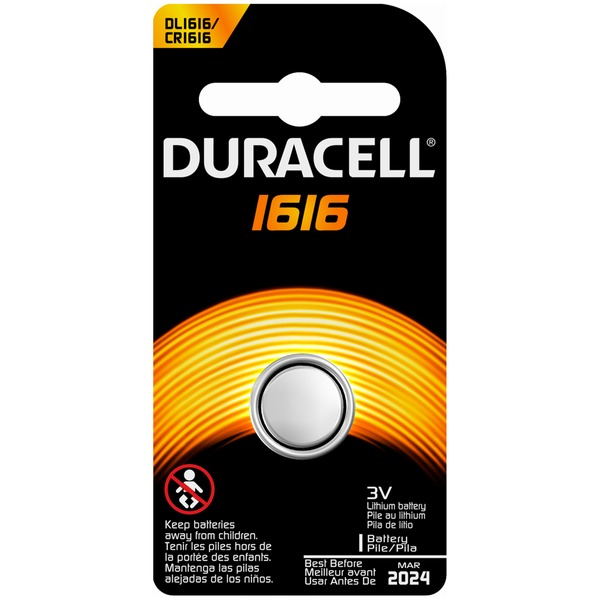 Duracell 1616 Lithium Coin Button Battery 1 count  Specialty Batteries