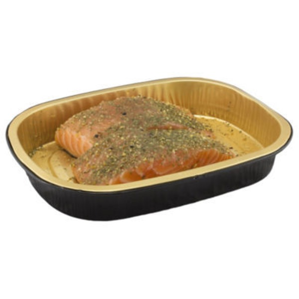 H-E-B Oven Ready Salmon Portions With Citrus Dill
