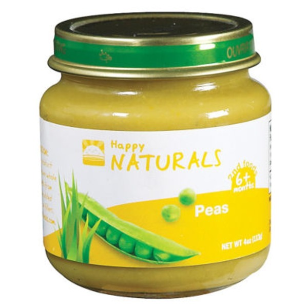 Happy Naturals 2nd Foods Peas Baby Food