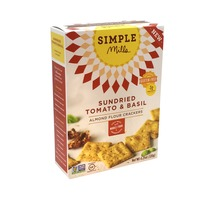 Simple Mills Sun Dried Tomato & Basil Almond Flour Crackers