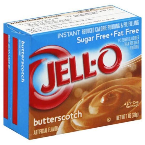 Jell-O Sugar Free Fat Free Butterscotch Instant Reduced Calorie Pudding & Pie Filling Mix