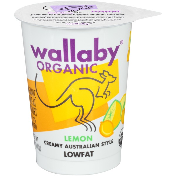 Wallaby Organic Organic Lemon Lowfat Yogurt
