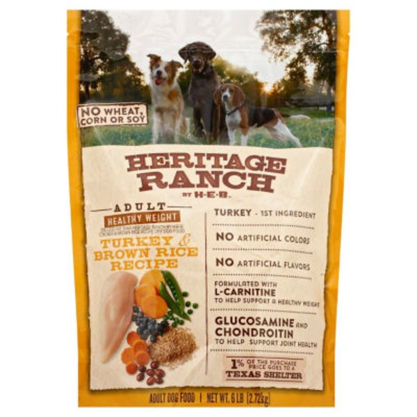 H-E-B Heritage Ranch Healthy Weight Dry Dog Food, Turkey