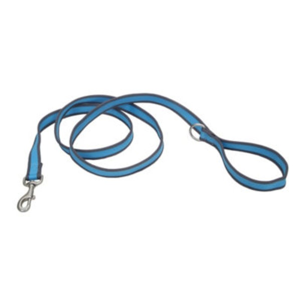 Coastal Pet Pet Attire Pro Bright Blue With Grey 3/4 Inch X 6 Feet Leash