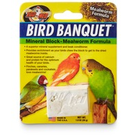 Zoo Med Bird Banquet Mineral Block Mealworm Formula