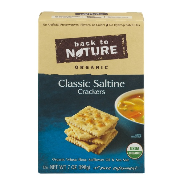 Back to Nature Organic Classic Saltine Crackers