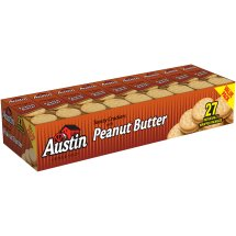 Austin Toasty Crackers, Peanut Butter 1.38 oz 27 Count
