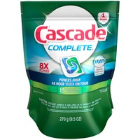 Cascade Complete ActionPacs Dishwasher Detergent Fresh Scent 15 Ct Dish Care