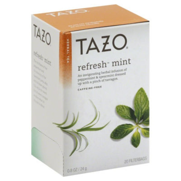 Tazo Tea Herbal Tea Refresh™ Mint Caffeine-Free Tea Bags