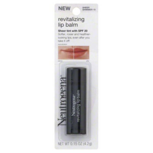 Neutrogena® Sheer Shimmer 10 Revitalizing Lip Balm