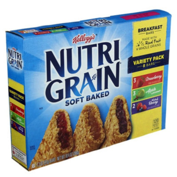 Kellogg's Nutri Grain Nutri-Grain Soft Baked Strawberry/Apple Cinnamon/Mixed Berry Variety Pack Breakfast Bars