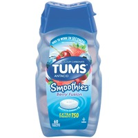 Tums Smoothies Extra Strength 750 Berry Fusion Chewable Tablets Antacid