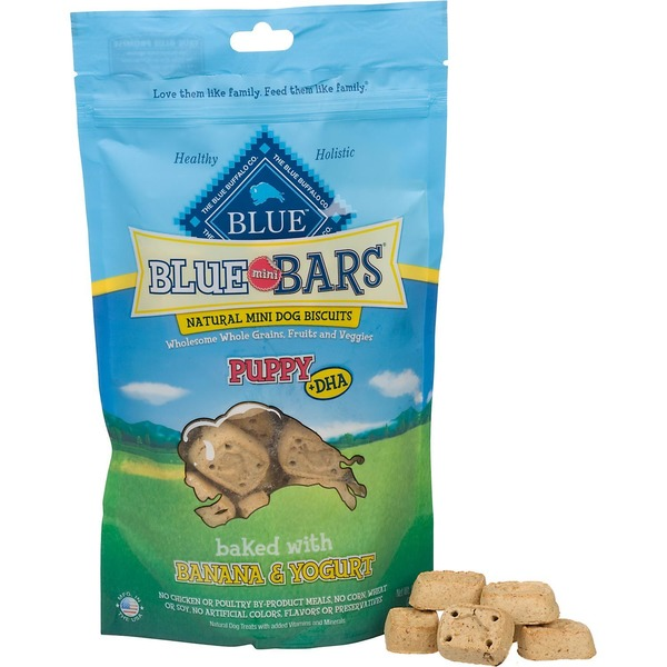 Blue Buffalo Dog Biscuits, Natural, Mini, Puppy + DHA, Banana & Yogurt