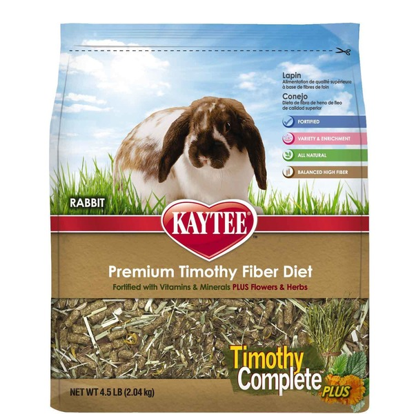 Kaytee Timothy Complete Plus Flowers & Herbs Rabbit Food 4.5 Lbs.
