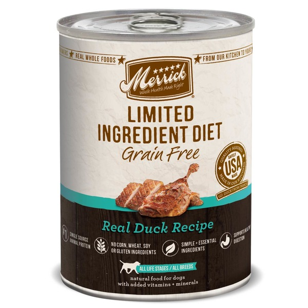 Merrick Limited Ingridient Diet Grain Free Real Duck Recipe Food For Dogs