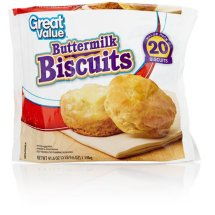 Great Value Frozen Buttermilk Biscuits, 20 ct